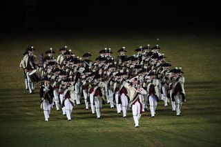MCV March off the Tattoo field